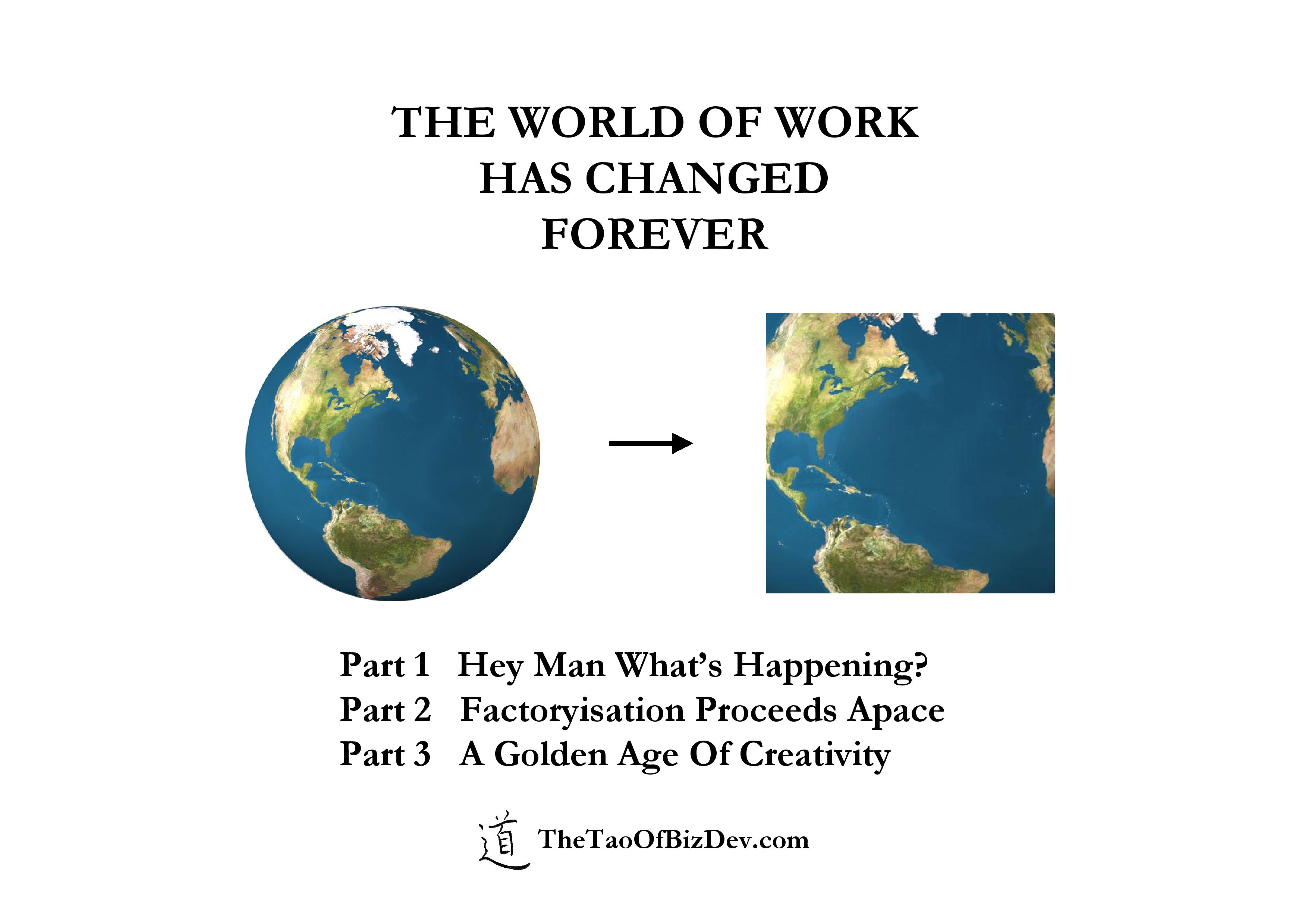 how has the world of work Preface vi changing patterns in the world of work agenda for a fair globalization this approach has received regional and global endorsement and is now the foundation of the progressive develop.